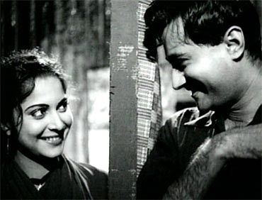 Waheeda Rahman and Dev Anand