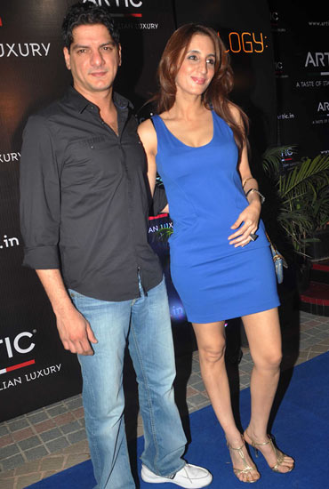 Dj Aqeel and wife Farah Khan Ali
