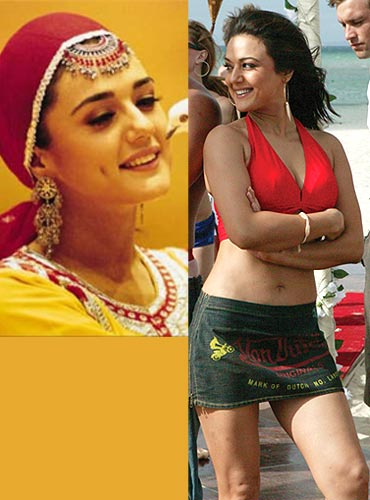 Preity Zinta in Mission Kashmir and Salaam Namaste