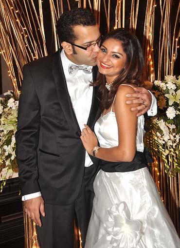 Rahul Mahajan and wife Dimpy