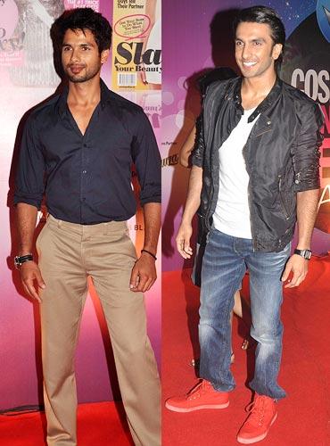 Shahid Kapoor and Ranveer Singh