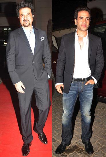 Anil Kapoor and Tusshar Kapoor