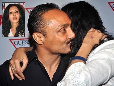 Nandana Sen hugs Rahul Bose. Inset: Nandana Sen