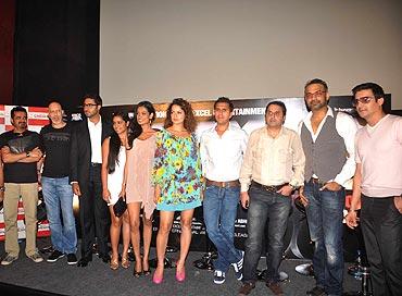 Ehsaan Noorani, Loy Mendonsa, Abhishek Bachchan, Shahana Goswami, Sarah Jane Dias, Kangna Ranaut, Ritesh Sidhwani, Sunil Lulla, Abhinay Deo and Jimmy Shergill