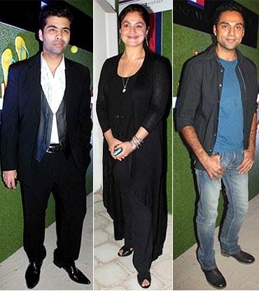 Karan Johar, Pooja Bhatt and Abhay Deol