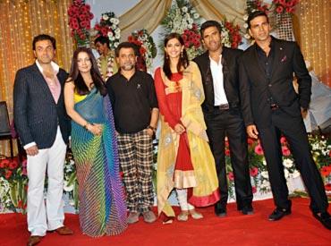 Bobby Deol, Celina Jaitley, Anees Bazmee, Sonam Kapoor, Suniel Shetty and Akshay Kumar