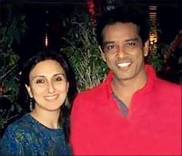 Juhi Babbar and Anoop Soni