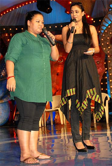 Bharti and Shweta Tiwari