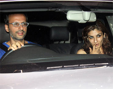 Anil Thadani and Raveena Tandon