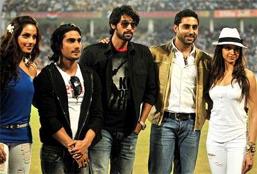 Bipasha Basu, Prateik Babbar, Rana Daggubati, Abhishek Bachchan and Deepika Padukone