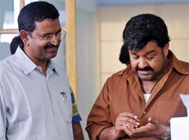 Blessy with Mohanlal
