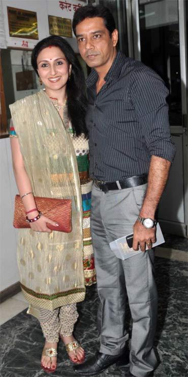 Juhi Babbar and Anup Soni