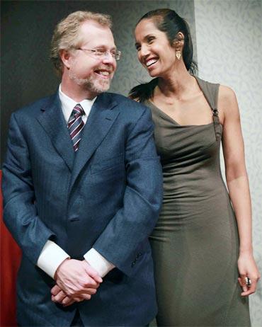 Nathan Myhrvold and Padma Lakshmi