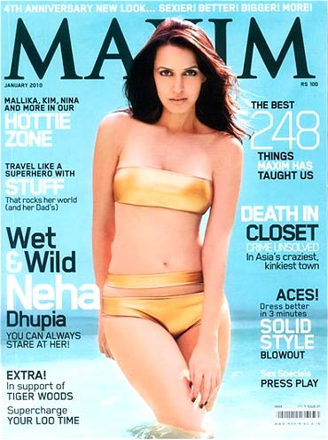 Neha Dhupia on the Maxim cover