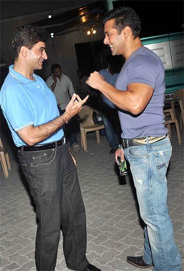Indra Kumar and Salman Khan