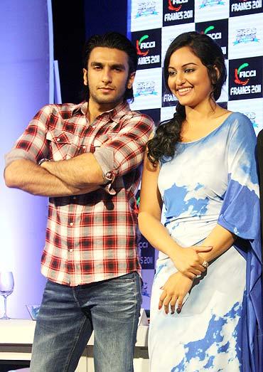 Ranveer Singh and Sonakshi