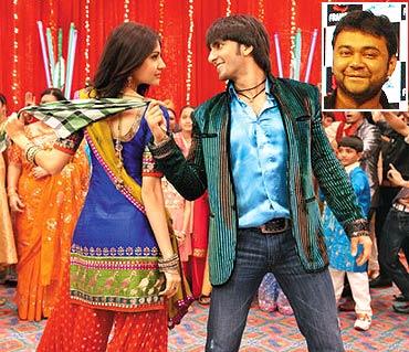 A scene from Band Baaja Baraat inset Maneesh Sharma