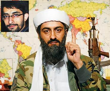 Scene from Tere Bin Laden inset Abhishek Sharma