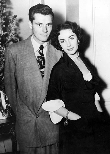 Elizabeth Taylor with Conrad Hilton Jr.