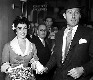 Liz Taylor with Michael Wilding