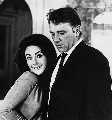 Liz Taylor with Richard Burton