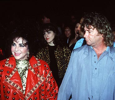Liz Taylor with Larry Fortensky