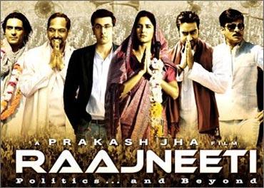 A poster of Rajneeti