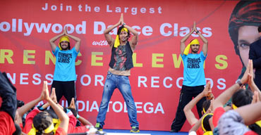 Terence Lewis choreographs the dance