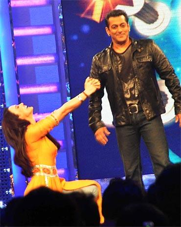 Preity Zinta and Salman Khan