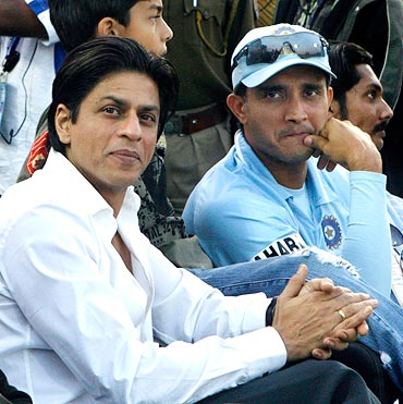 Shah Rukh Khan and Saurav Ganguly