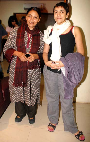 Deepti Naval and Deepa Sahi