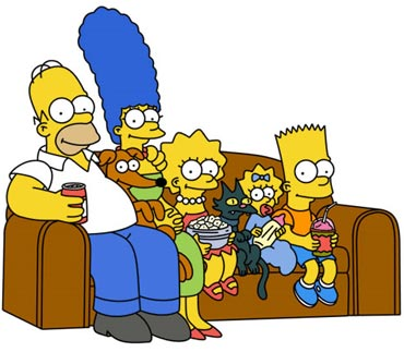 A still from The Simpsons