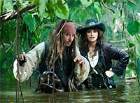 A scene from Pirates of the Caribbean 4