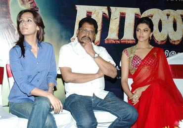 Soundarya, KS Ravikumar and Deepika Padukone