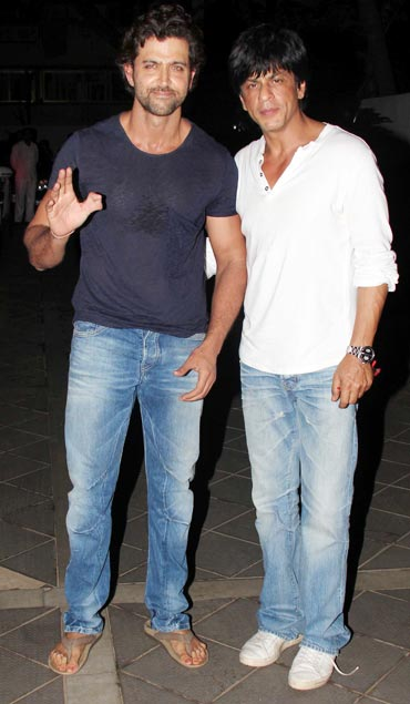 Hrithik Roshan and Shah Rukh Khan