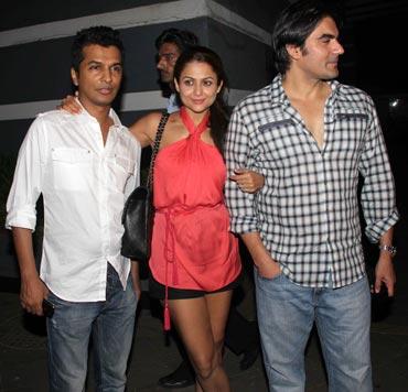 Vikram Phadnis, Amrita Arora and Arbaaz Khan
