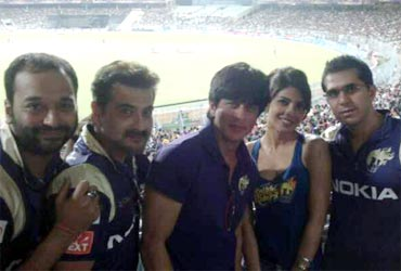 Priyanka Chopra with Shah Rukh Khan and Kolkata Knight Riders