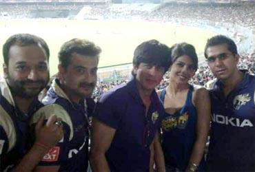 Priyanka Chopra with Shah Rukh Khan and Kolkata Knight Riders