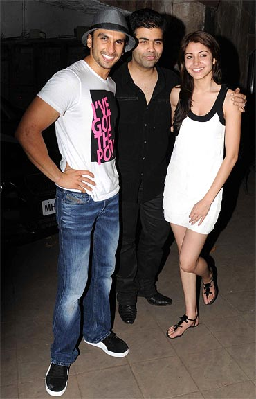 Photo of Anushka Sharma & her friend celebrity  Karan Johar  -