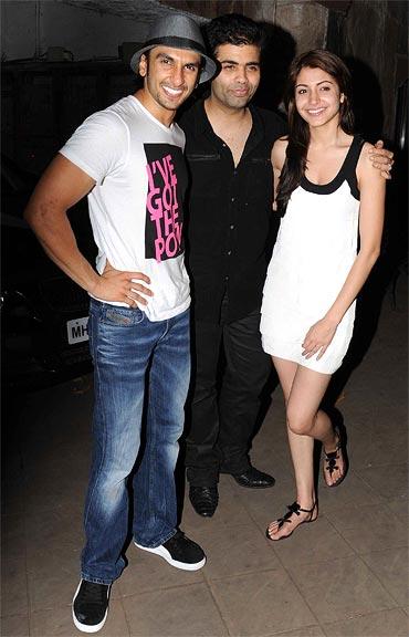 Photo of Anushka Sharma & her friend  Karan Johar