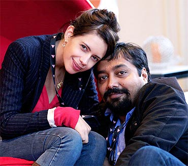 Kalki Koechlin with Anurag Kashyap