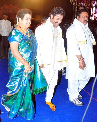 Shalini, NTR Jr and Harikrishna