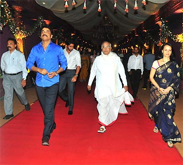 Nagarjuna, Naga Chaitanya, Akkineni Nageswara Rao and Amala Akkineni