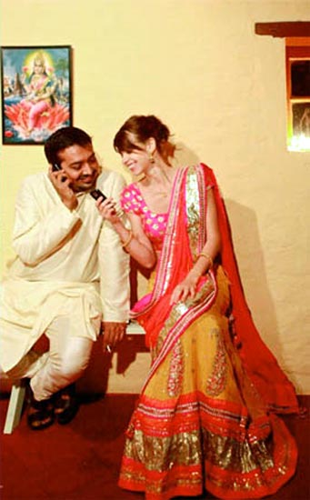 Anurag Kashyap and Kalki Koechlin at their wedding party