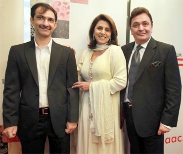 Habib Faisal with Neetu and Rishi Kapoor
