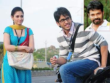 A scene from 100 percent Love. Inset: Director Sukumar