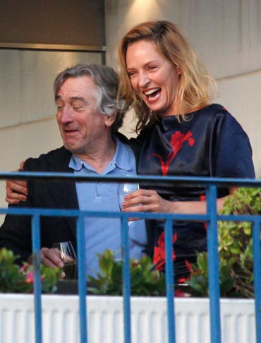 Robert De Niro and Uma Thurman