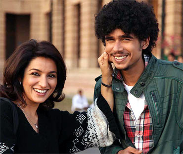 Tisca Chopra and Imaad Shah in 404