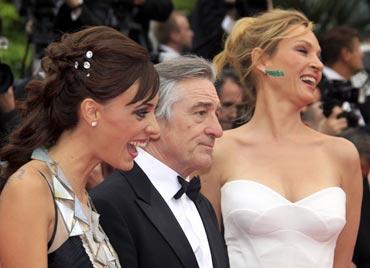 Martina Gusman, Robert De Niro and Uma Thurman