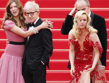 Lea Seydoux, Woody Allen and Rachel McAdams